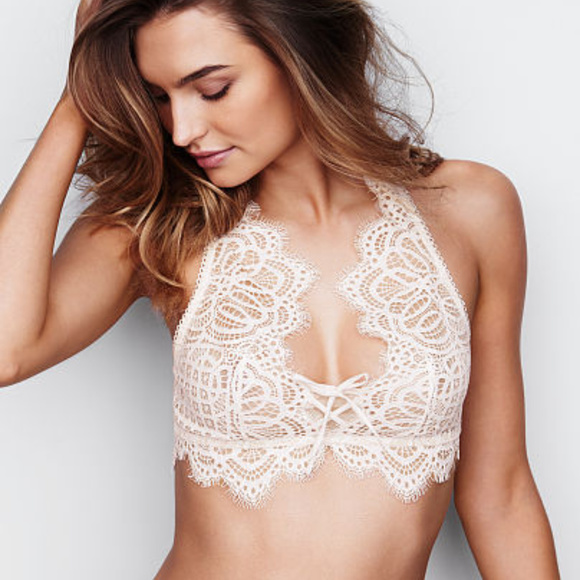 7487ef43c6 Victoria s Secret Dream Angels Lace Bralette White